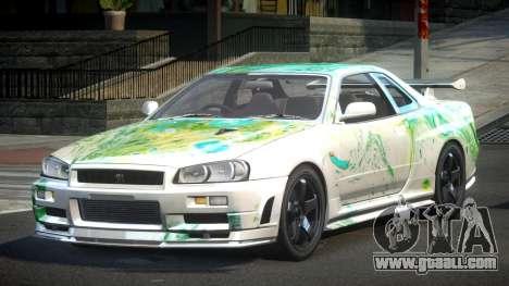 Nissan Skyline R34 PSI-U S1 for GTA 4
