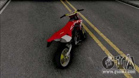 Honda CRF 150L Supermoto for GTA San Andreas