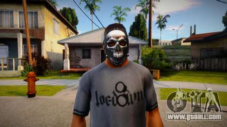 Mask with skull for GTA San Andreas
