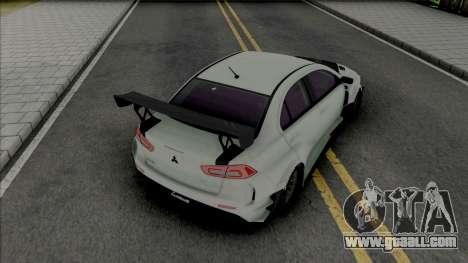 Mitsubishi Lancer Evolution X (SA Lights) for GTA San Andreas