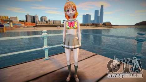 Chika Takami - Love Live Sunshine - shirtless v1 for GTA San Andreas