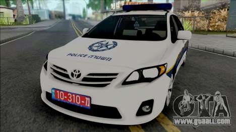 Toyota Corolla 2013 Israeli Police for GTA San Andreas