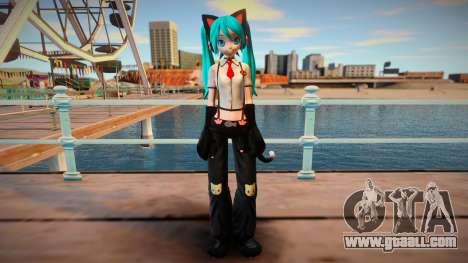 PDFT Hatsune Miku Kitty Cat for GTA San Andreas