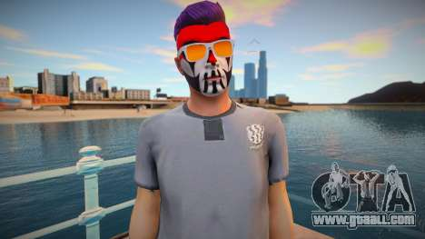 Character from GTA Online in makeup and glasses for GTA San Andreas
