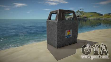 HD Trash Bin for GTA San Andreas