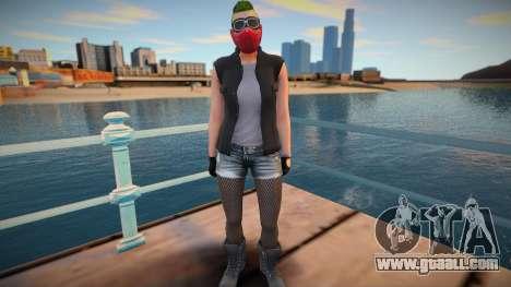 Biker girl 2 from GTA Online DLC: Bikers for GTA San Andreas
