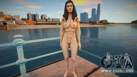 Wonder Woman nude skin for GTA San Andreas