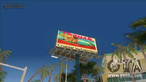Real billboards of the 80s for GTA Vice City