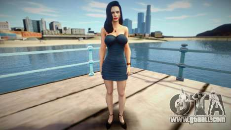Excella (Seductive Dress) from Resident Evil 5 for GTA San Andreas