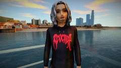 Girl in hoodie by Revenge for GTA San Andreas