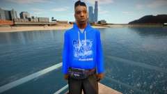 Black Guy In A Blue Sweater for GTA San Andreas
