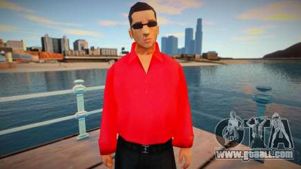 Vuzy in a red shirt for GTA San Andreas