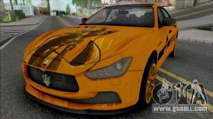 Maserati Ghibli III Taxi (Carbon) for GTA San Andreas