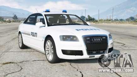 Audi A8 L 6.0 quattro (D3) 2005〡Danish Police for GTA 5