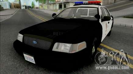 Ford Crown Victoria 2011 CVPI LAPD for GTA San Andreas