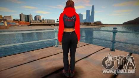 Julia Chang Casual V1 DLC Los Santos Tuners for GTA San Andreas