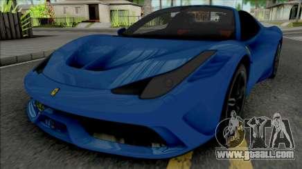 Ferrari 458 Speciale Aperta 2015 for GTA San Andreas