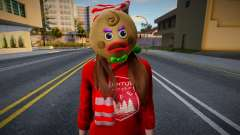 Girl in New Year's clothes 6 for GTA San Andreas