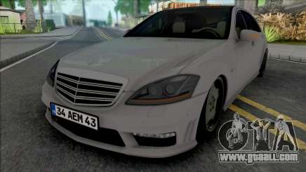 Mercedes-Benz S65 AMG W221 (34 AEM 43) for GTA San Andreas