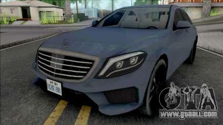 Mercedes-Benz S63 AMG 2014 Japan SA Style v2 for GTA San Andreas
