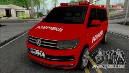 Volkswagen Transporter T6 Pompierii for GTA San Andreas