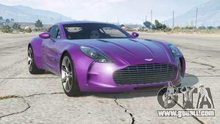 Aston Martin One-77 2010〡add-on for GTA 5