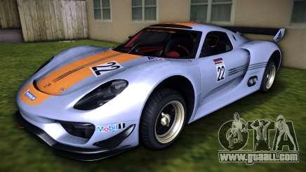 Porsche 918 RSR 2012 for GTA Vice City