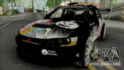 Mitsubishi Lancer Evo IX Itasha Izumi Miyako for GTA San Andreas