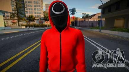 Male Random Guard N1 Squid Game for GTA San Andreas