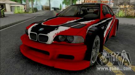 BMW M3 GTR Stacked Deck (NFS Carbon) for GTA San Andreas