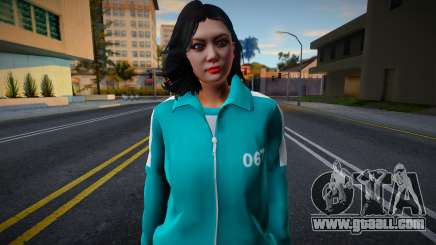 Female Asian Tracksuit 067 Squid Game for GTA San Andreas