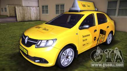 Renault Logan 2015 Yandex Taxi for GTA Vice City