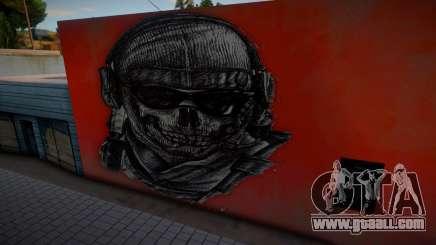 Mural de Simon Ghost Riley CoD MW2 for GTA San Andreas